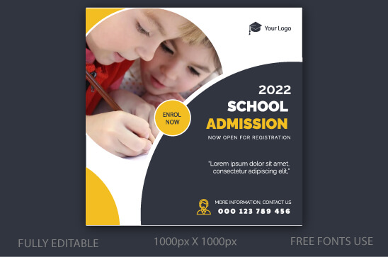 School admission social media post eps