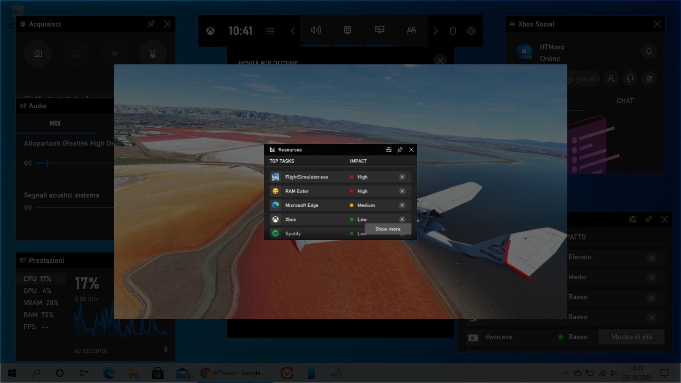 Risorse di Xbox Game Bar è un nuovo Task Manager per Windows 10