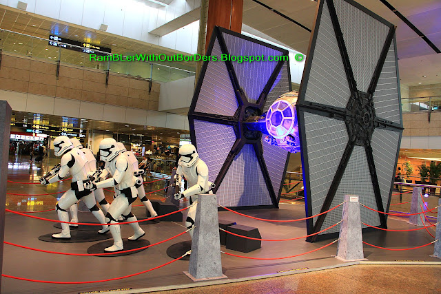 Star Wars Stormtrooper and TIE fighter, Changi Airport, Singapore