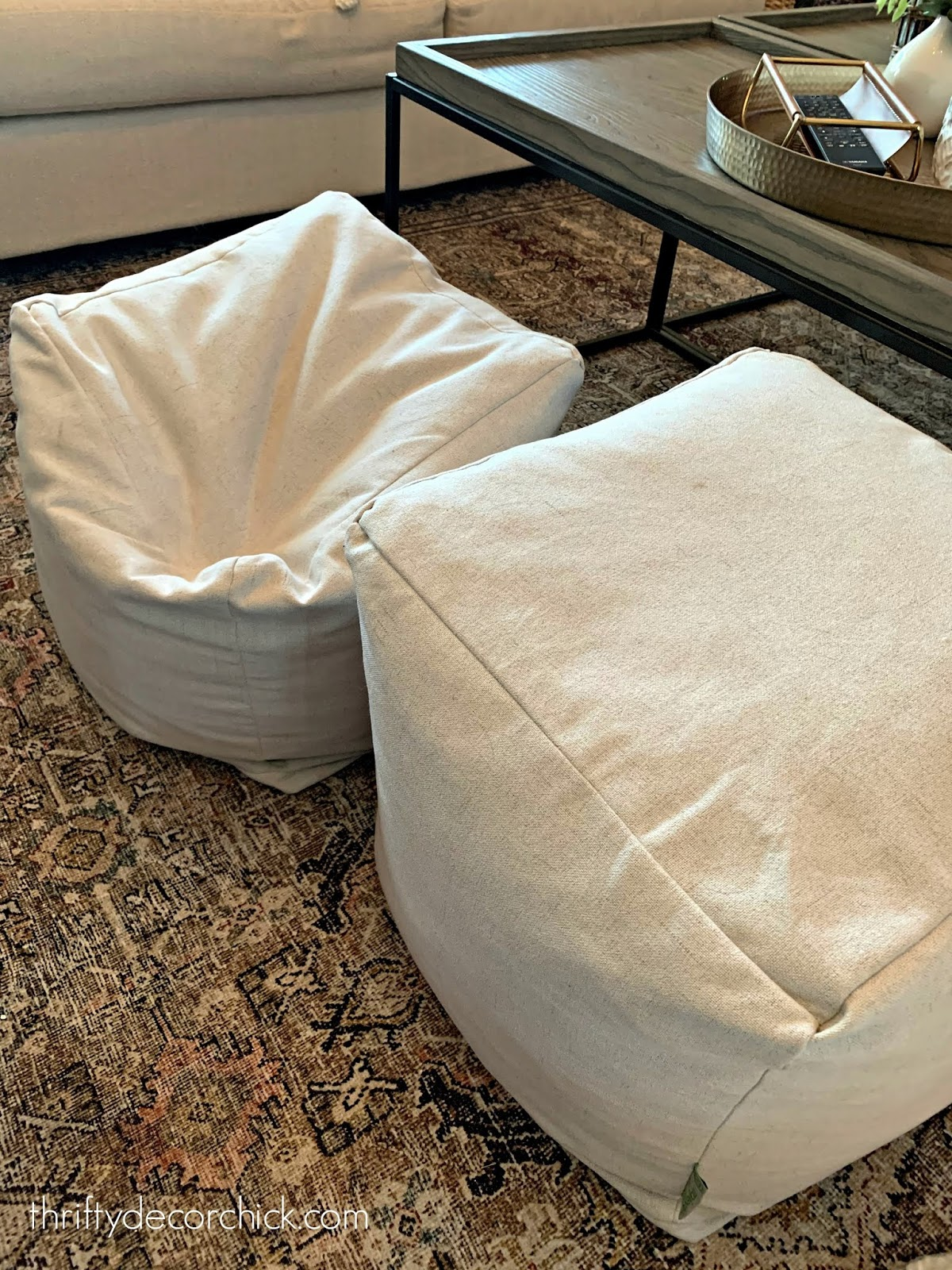 how to refluff ottomans or poufs