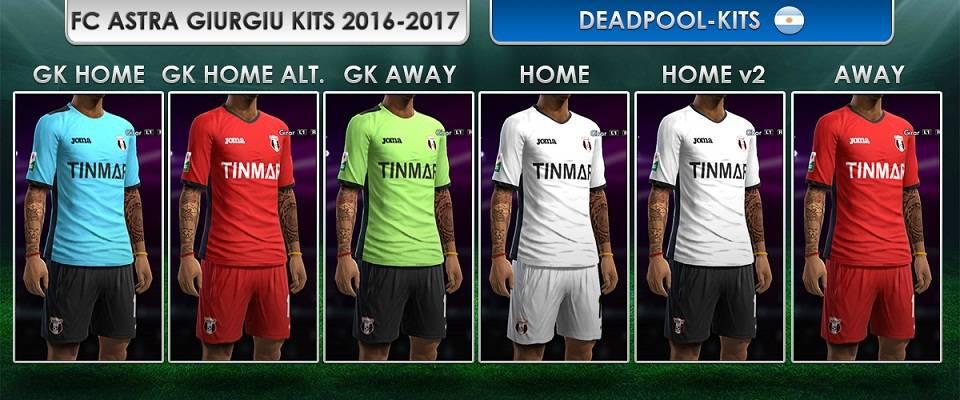 Pes 2013 Fc Astra Giurgiu Kits 2016 17 By Deadpool Actualizacion