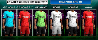 PES 2013 FC Astra Giurgiu Kits 2016-17 by DEADPOOL