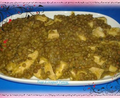 Chicken with Cilaos lentils