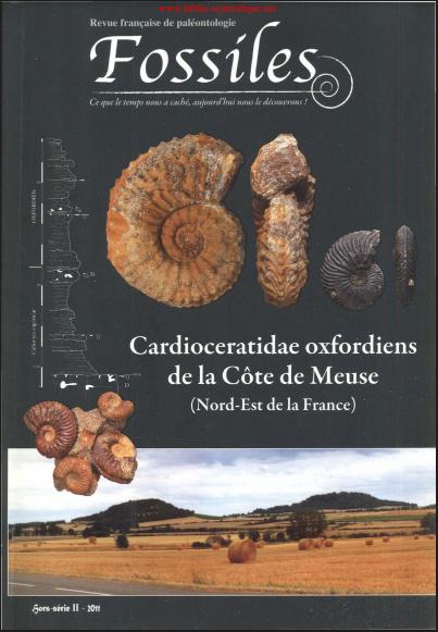 Livre : Les Cardioceratidae oxfordien de la Côte de la Meuse - Fossiles