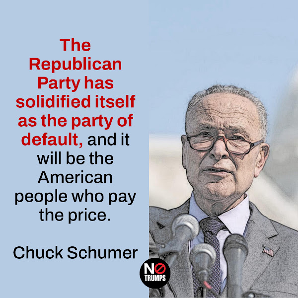 The Republican Party has solidified itself as the party of default, and it will be the American people who pay the price. — Senate Majority Leader Chuck Schumer, D-N.Y.