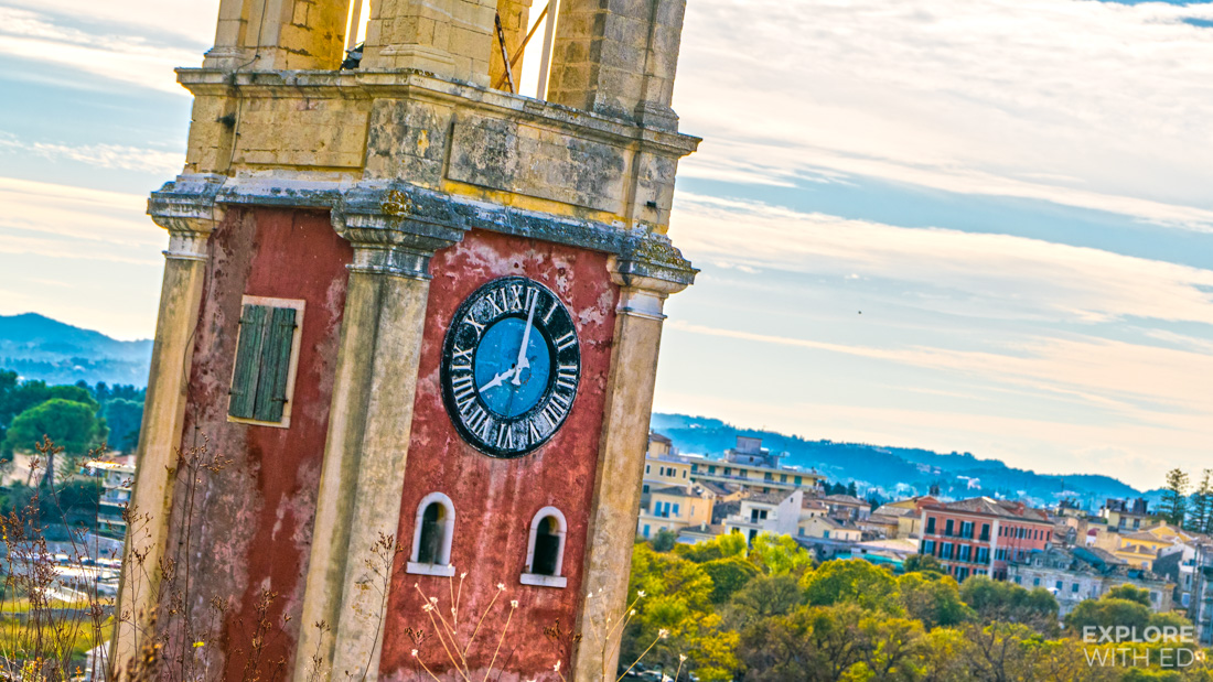 Corfu Fortress Old Clock Tower