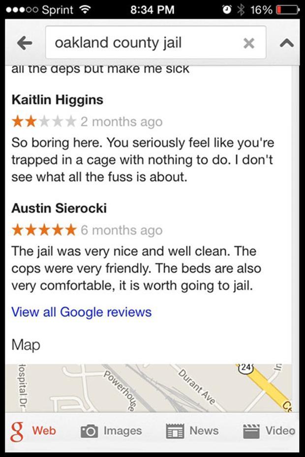 Oakland County Jail reviews | funny bits