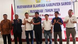 Wabup Samosir Buka Musorkab KONI 2019