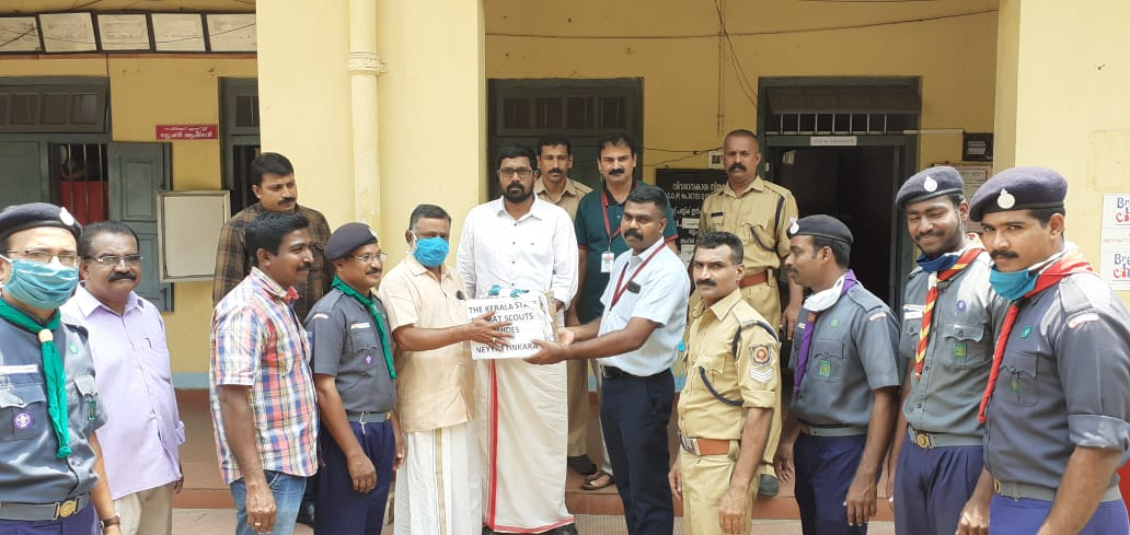 Covid 19;  Kerala State Bharat Scouts and Guides Neyyattinkara District Association distributed masks,www.thekeralatimes.com