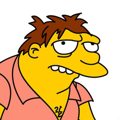 Los Simpson Personaje Barney Gumble
