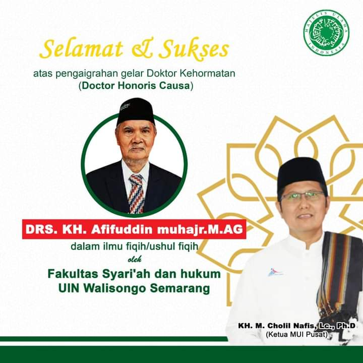 Gelar Doktor Honoris Causa Kh. Afifuddin Muhajir: Seorang Fakih Dari Elaborasi Pendidikan Pesantren