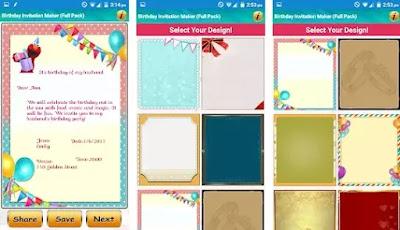 Aplikasi untuk membuat kartu undangan ulang tahun terbaik di Android-3