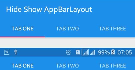 How to Hide Toolbar/AppBarLayout When Content Scroll | Viral Android