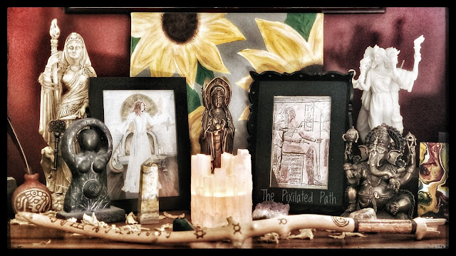 Vignette of Statues and Images of Various Gods & Goddesses