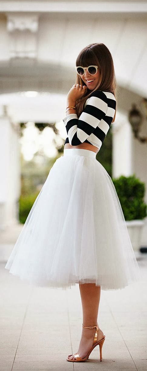 Loveeee tulle skirts & stripes