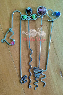 WireBliss - Beaded Wire Wrapped Bookmarks - Top Heavy