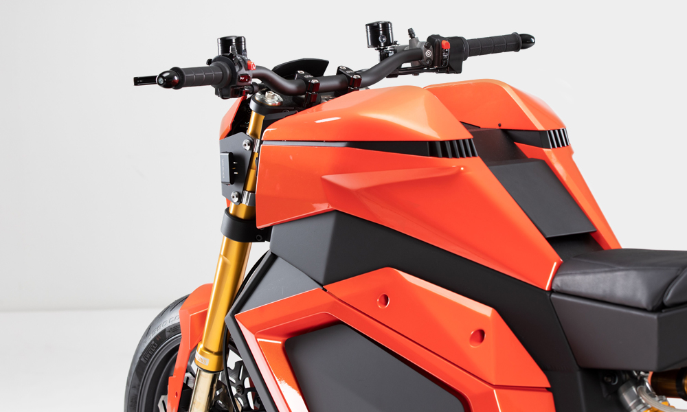 Chainless electric motorbike