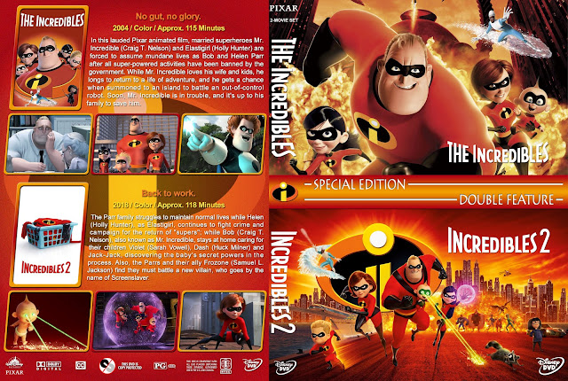 The Incredibles Double Feature DVD Cover