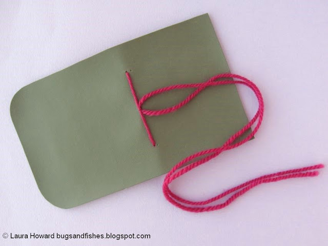 vegan leather mini notebook tutorial: knot the yarn