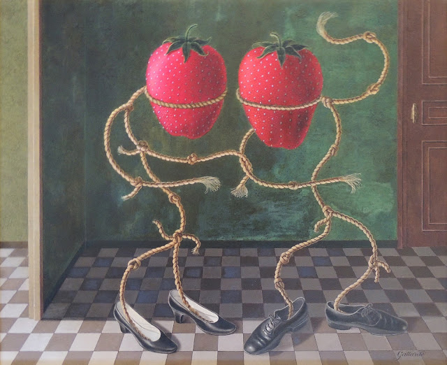 Gervasio Gallado pintura surrealista seductor