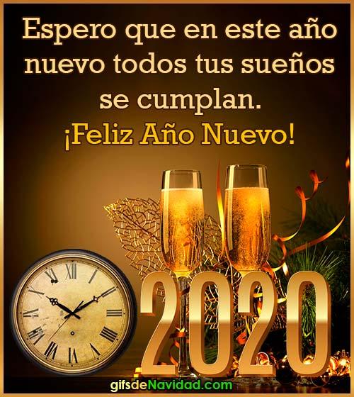 deseos feliz año nuevo 2020