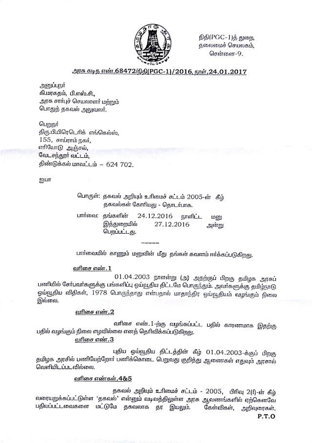CPS Scheme Regarding RTI Letter