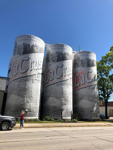 Die Silos der La Crosse City Brewery in La Crosse, Wisconsin