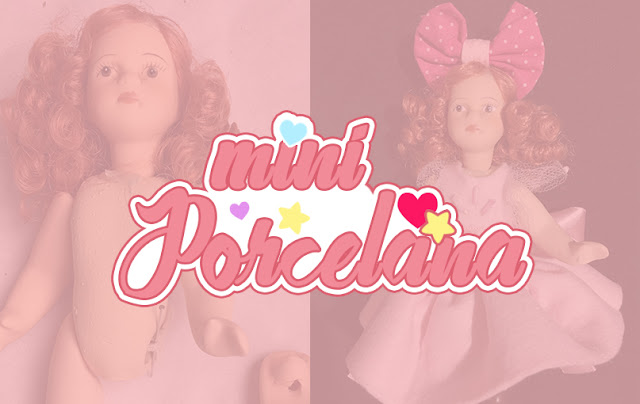mini boneca de porcelana
