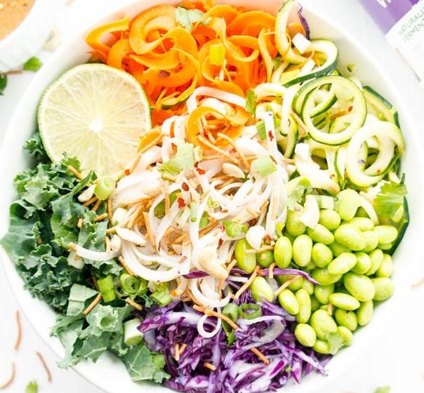 crunchy thai noodle salad #vegetarian #zoodles