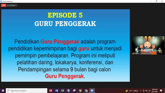 Sosialisasi Program Guru penggerak Angkatan ke-5 di Kabupaten Sumedang, Kemendikbud melalui program guru penggerak (PGP) mengajak para guru-guru terbaik bangsa untuk membawa  perubahan nyata bagi pendidikan Indonesia dengan mendaftar menjadi Guru Penggerak.
