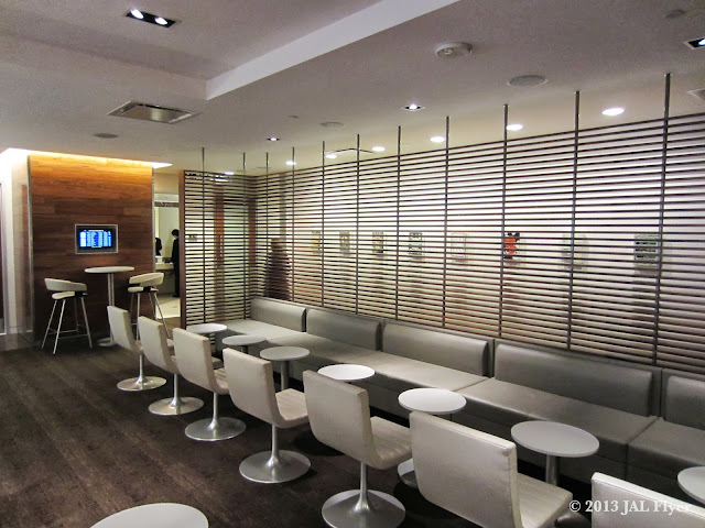 JAL Business Class Trip Report on JL061 - oneworld business class lounge seating area at LAX TBIT