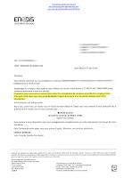 Lettre d'Enedis confirmant le remplacement d'un compteur défectueux par un non-Linky