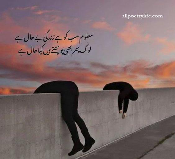 Best Urdu Poetry Collection Quotes   2 line sad poetry ( Shayari )