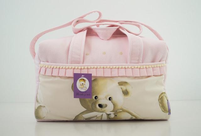 bolsa maternidad osos rosa