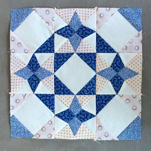 Blue North Strong & Free Quilt Block Pattern