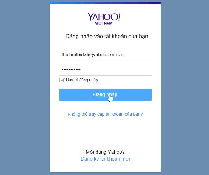 Đăng nhập yahoo mail, đăng nhập mail