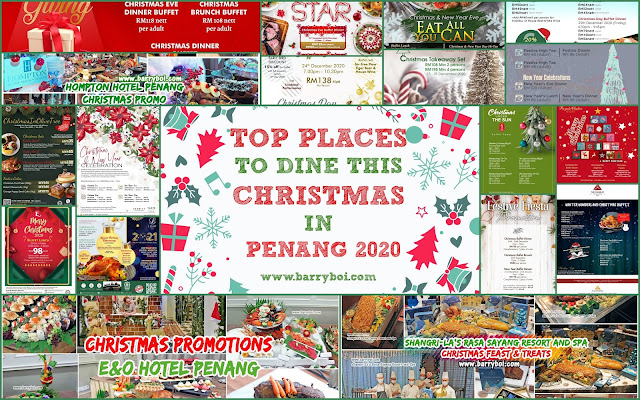Top places to dine this christmas in Penang 2020