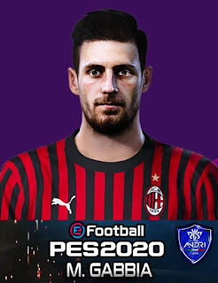 PES 2020 Faces Matteo Gabbia by Sofyan Andri