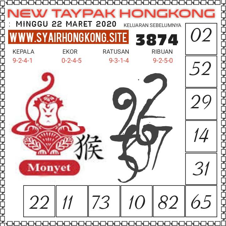 Prediksi Togel Hongkong Minggu 22 Maret 2020 - New Taypak Hongkong
