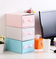 Sweet decorative storage boxes from cardboard for office desk organization