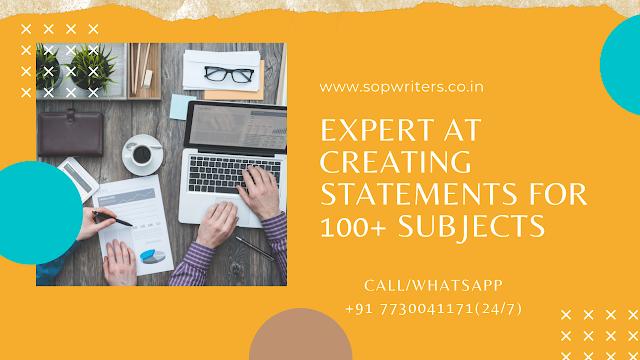 sop writing services delhi