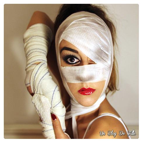 http://unblogdefille.blogspot.com/2014/10/halloween-makeup-sexy-momie.html