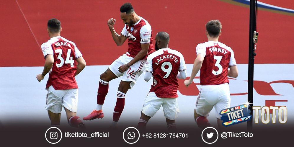 Arsenal Juara Piala FA, Emiliano Martinez dan Pierre-Emerick Aubameyang Bahagia Bersama