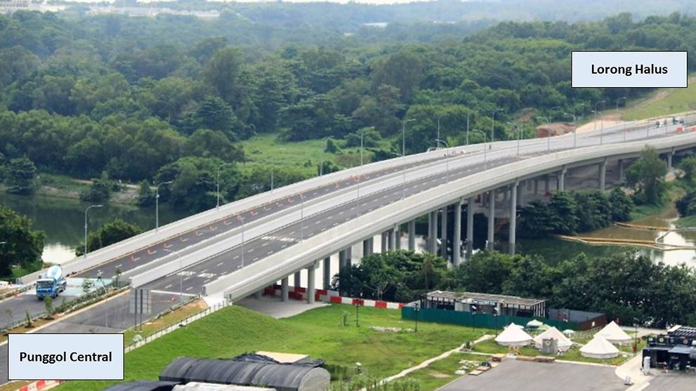 New road connecting Punggol to TPE and KPE opens, a year ahead of schedule