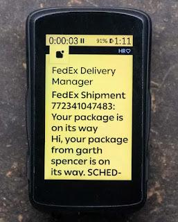 Una notificación de teléfono inteligente ampliada