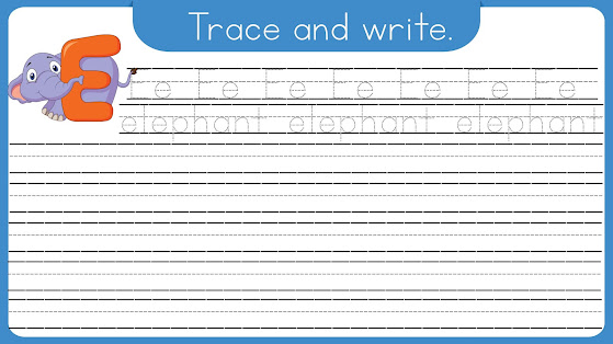 Printable Animal Names Writing Worksheets with Digital Flipbook