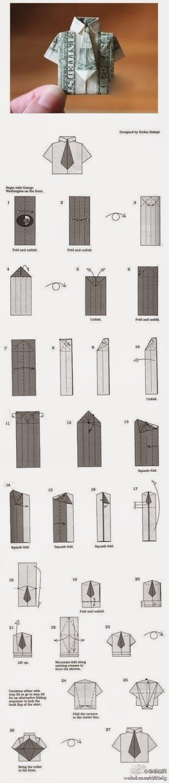 Tutorial origami camasa