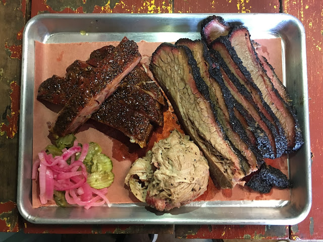 A tray full of the good stuff from Truth BBQ