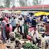 बंदी की अफवाह से सब्जी मण्डी में उमड़ी भारी भीड़