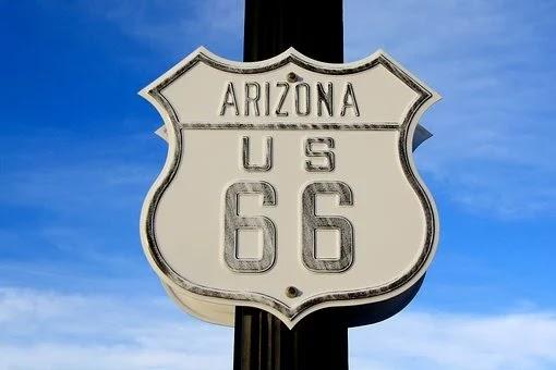 Rota 66 nos EUA de moto